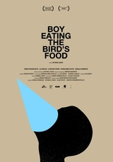 Boy Eating the Bird`s Food